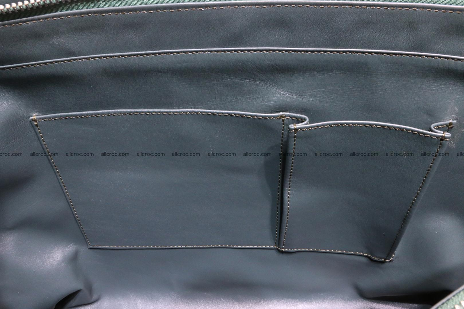 Genuine crocodile leather women's bag 064 Foto 13