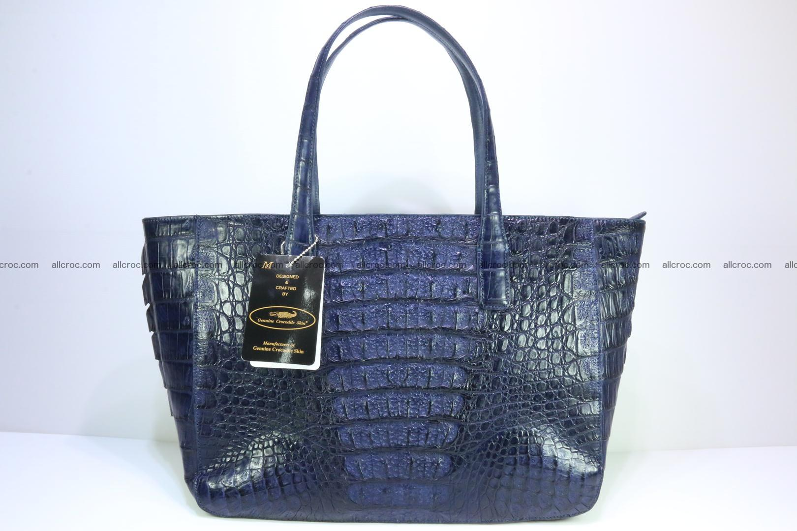 Genuine crocodile leather women's bag 065 Foto 5