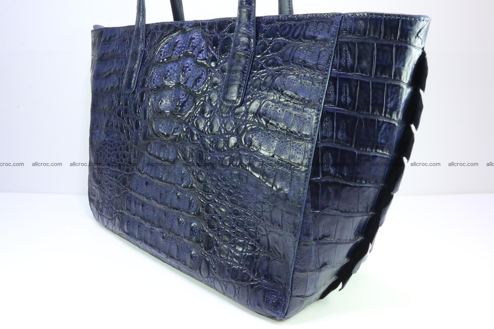 Genuine crocodile leather women's bag 065 Foto 3