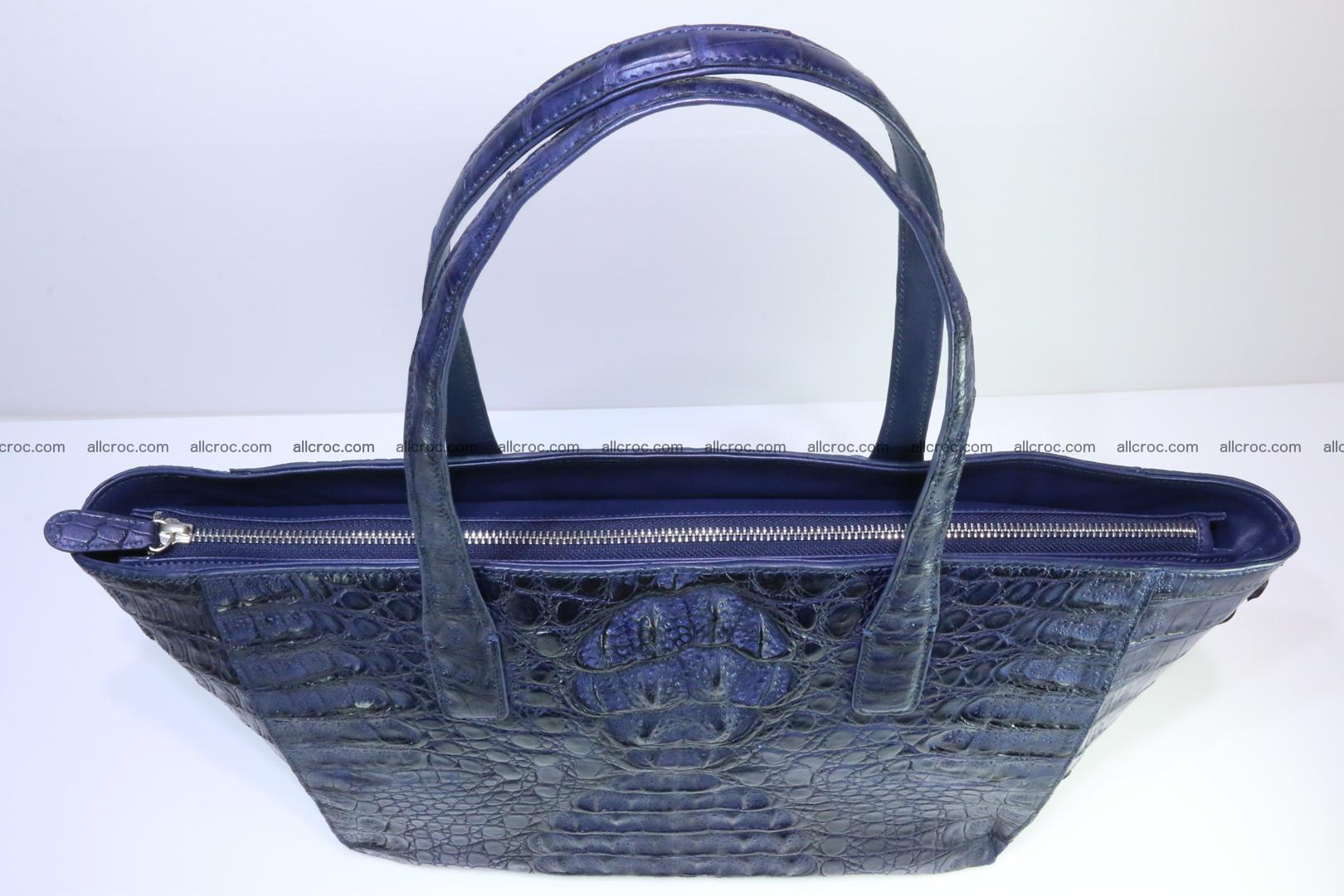Genuine crocodile leather women's bag 065 Foto 6