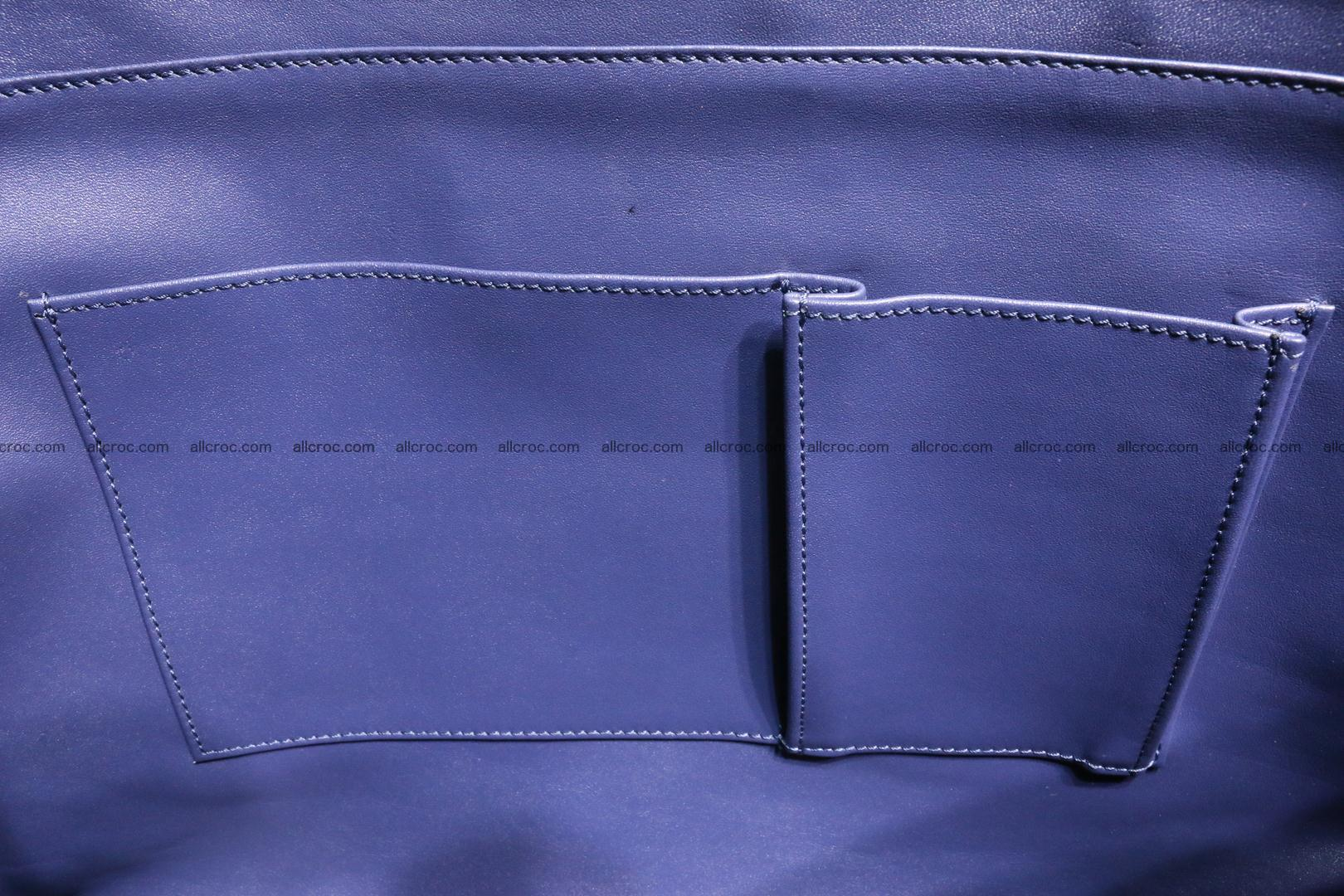 Genuine crocodile leather women's bag 065 Foto 14