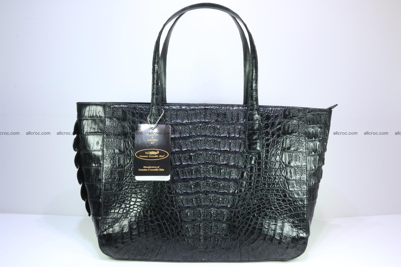 Genuine crocodile leather women's bag 066 Foto 1