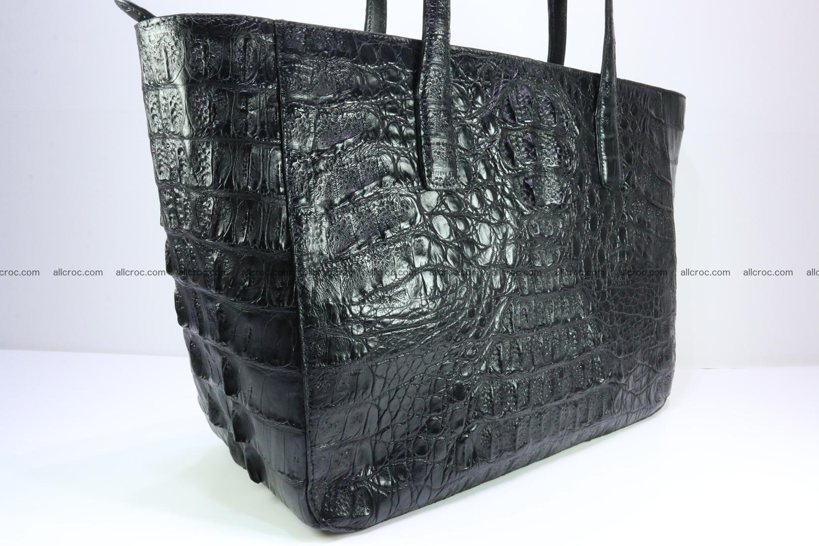 Genuine crocodile leather women's bag 066 Foto 8