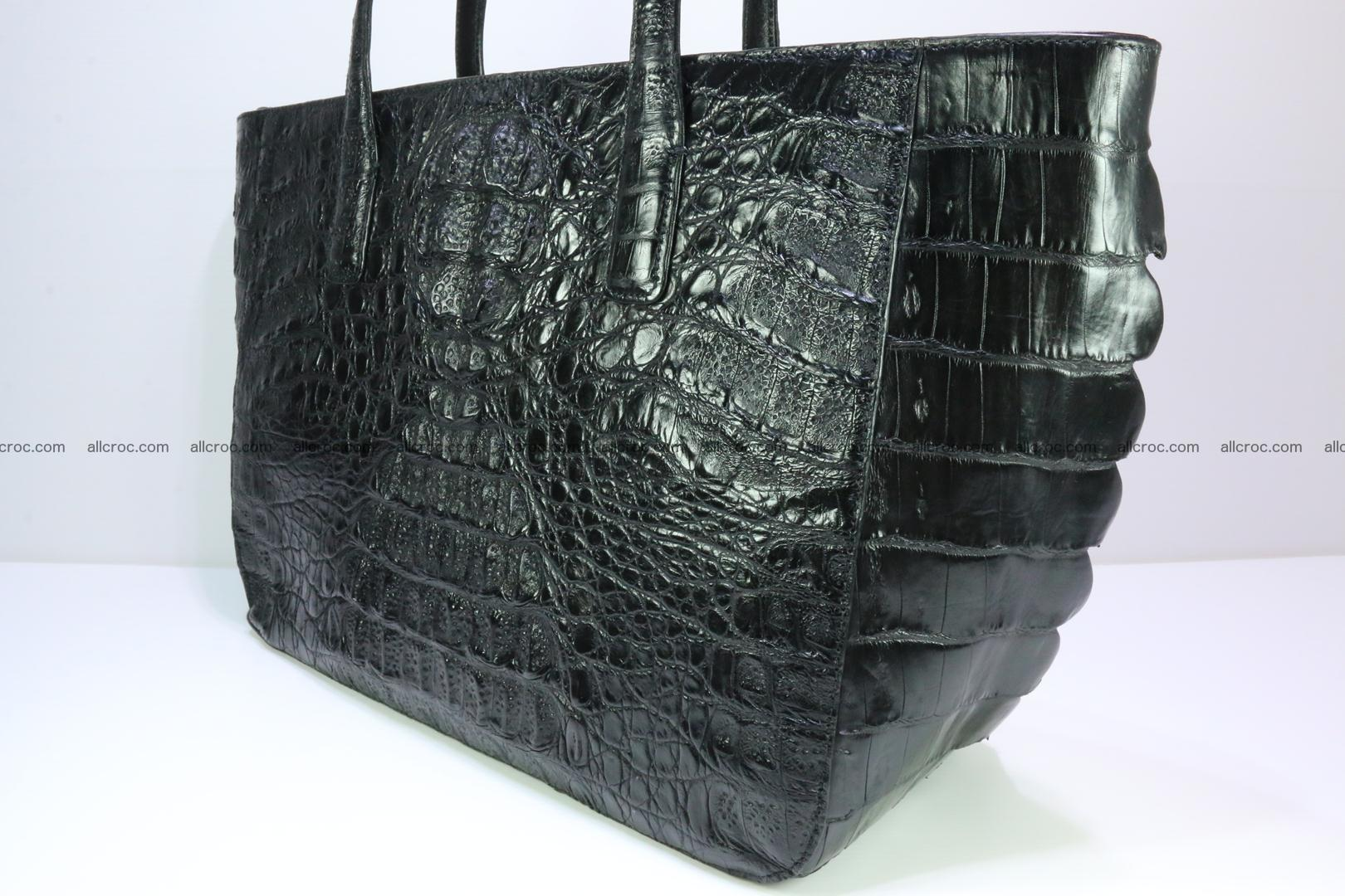 Genuine crocodile leather women's bag 066 Foto 7