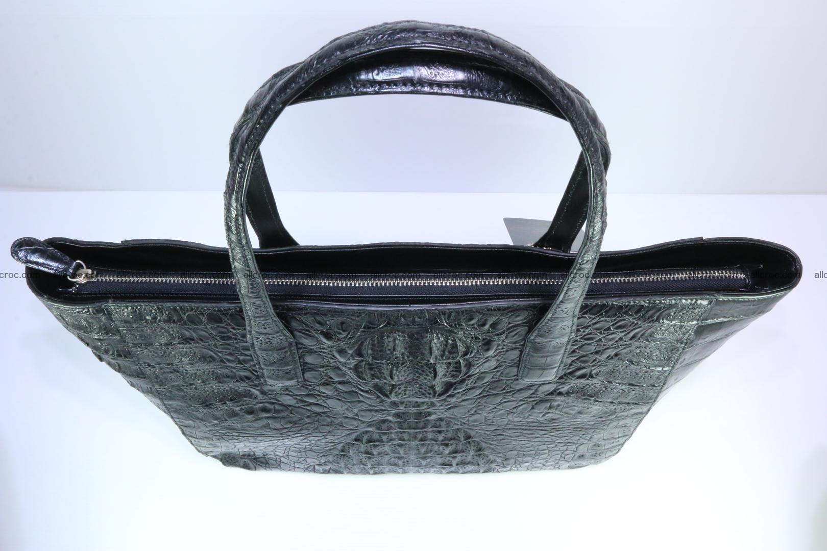 Genuine crocodile leather women's bag 066 Foto 6