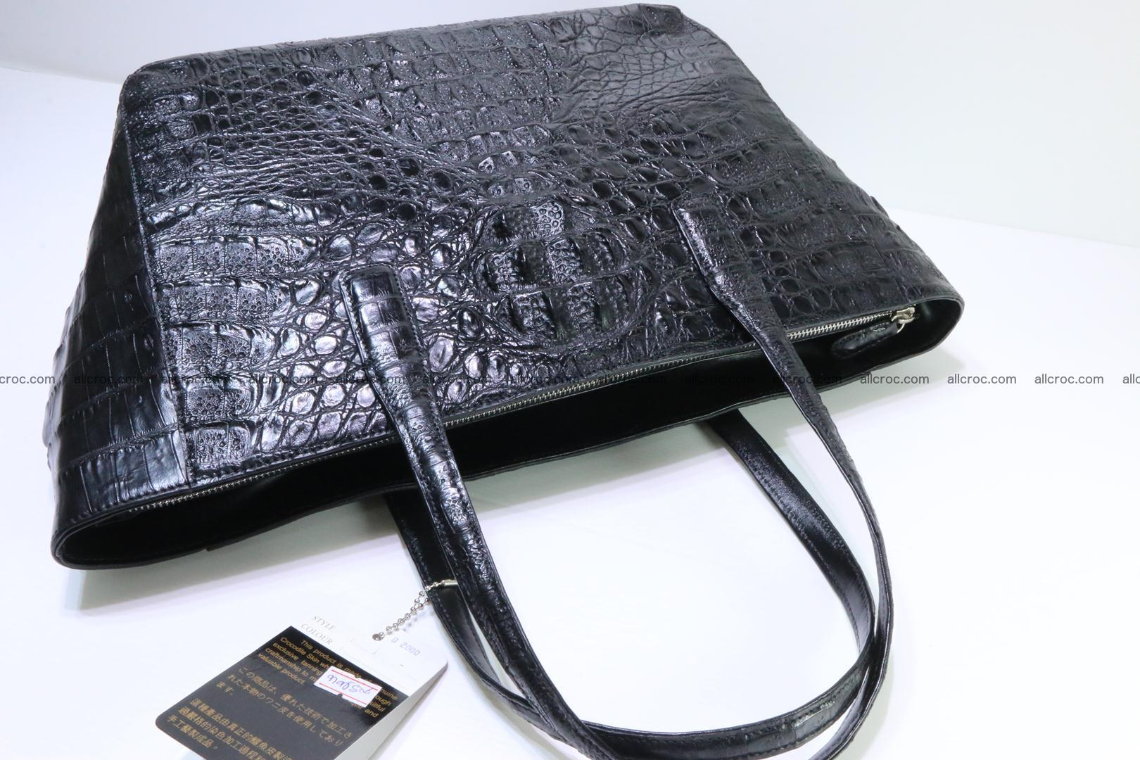 Genuine crocodile leather women's bag 066 Foto 12