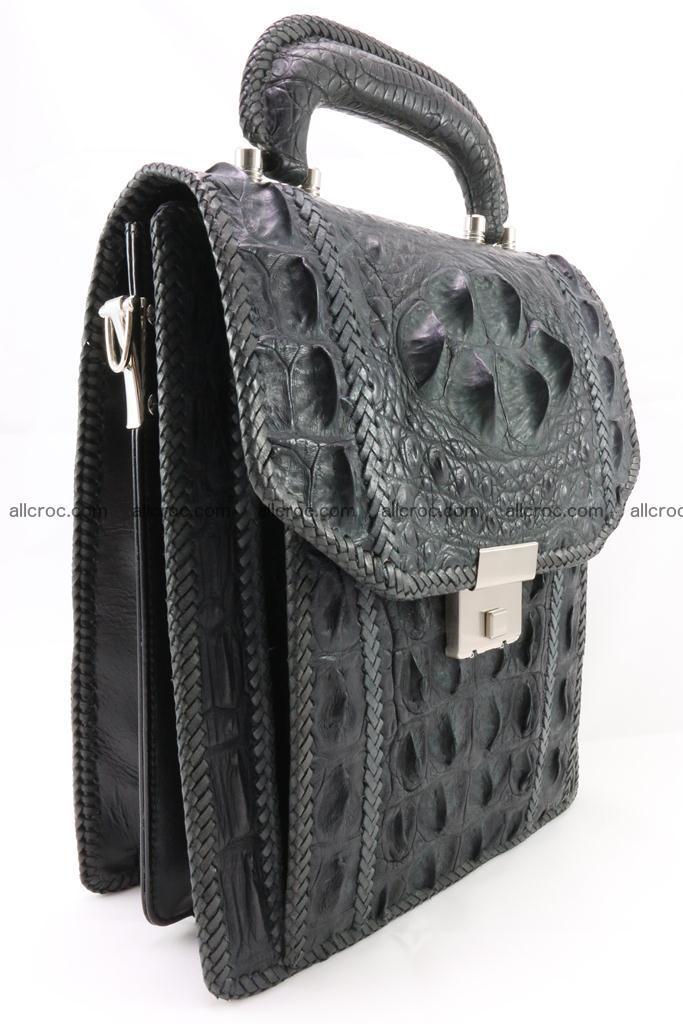 Crocodile skin messenger bag braided edges 420 Foto 1