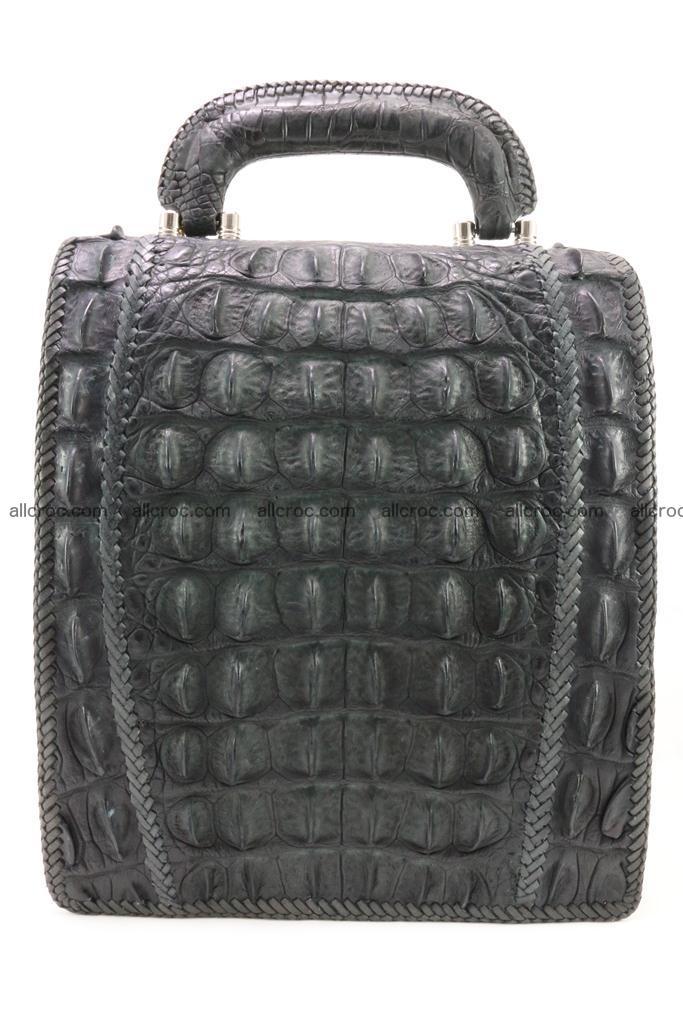 Crocodile skin messenger bag braided edges 420 Foto 3