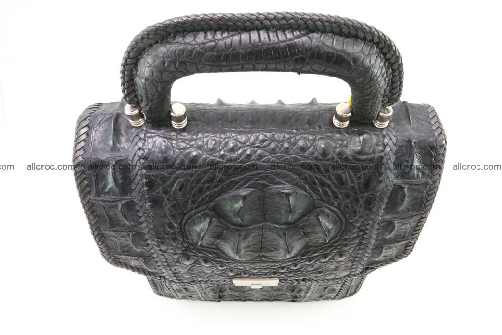 Crocodile skin messenger bag braided edges 420 Foto 4