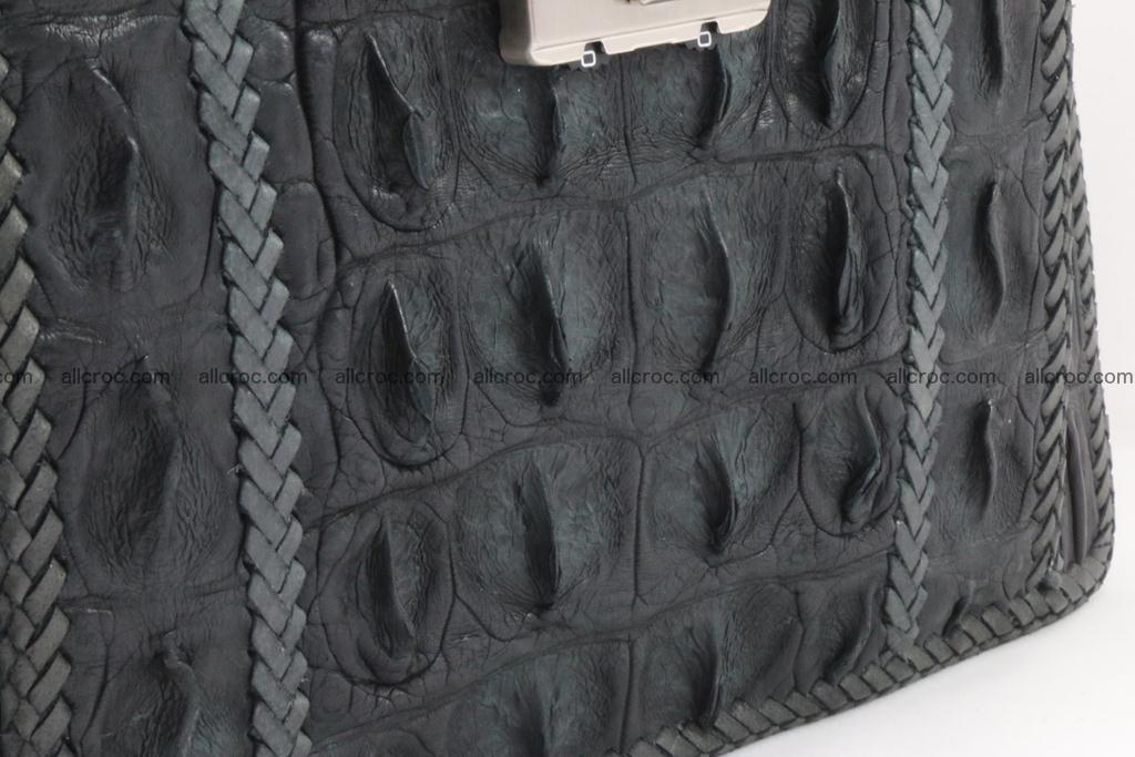 Crocodile skin messenger bag braided edges 420 Foto 6