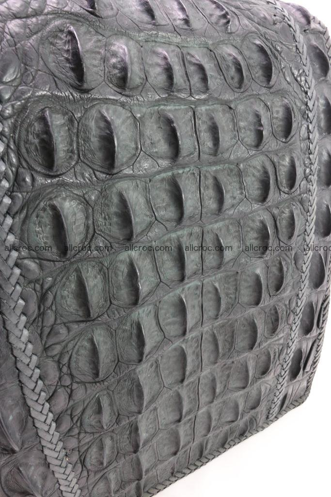 Crocodile skin messenger bag braided edges 420 Foto 7