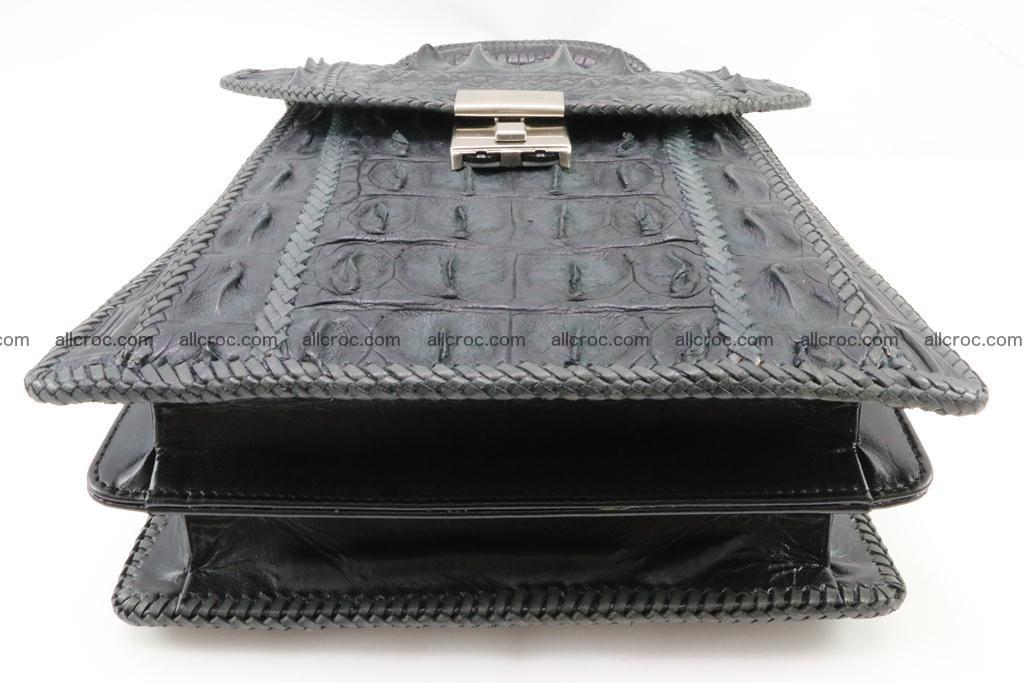 Crocodile skin messenger bag braided edges 420 Foto 8