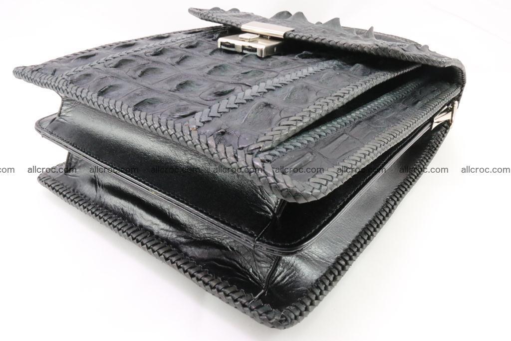 Crocodile skin messenger bag braided edges 420 Foto 10
