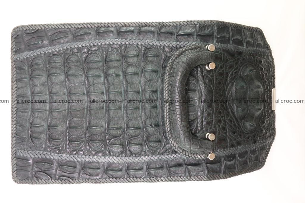 Crocodile skin messenger bag braided edges 420 Foto 11
