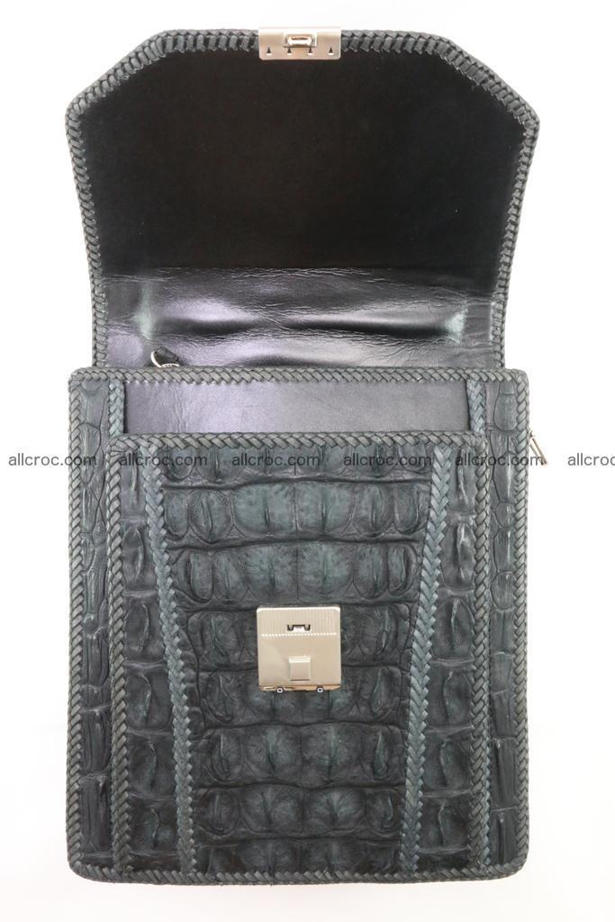 Crocodile skin messenger bag braided edges 420 Foto 12