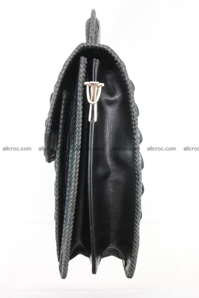 Crocodile skin messenger bag braided edges 420 Foto 13