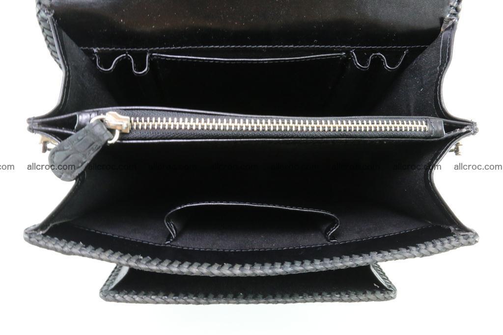 Crocodile skin messenger bag braided edges 139 Foto 10