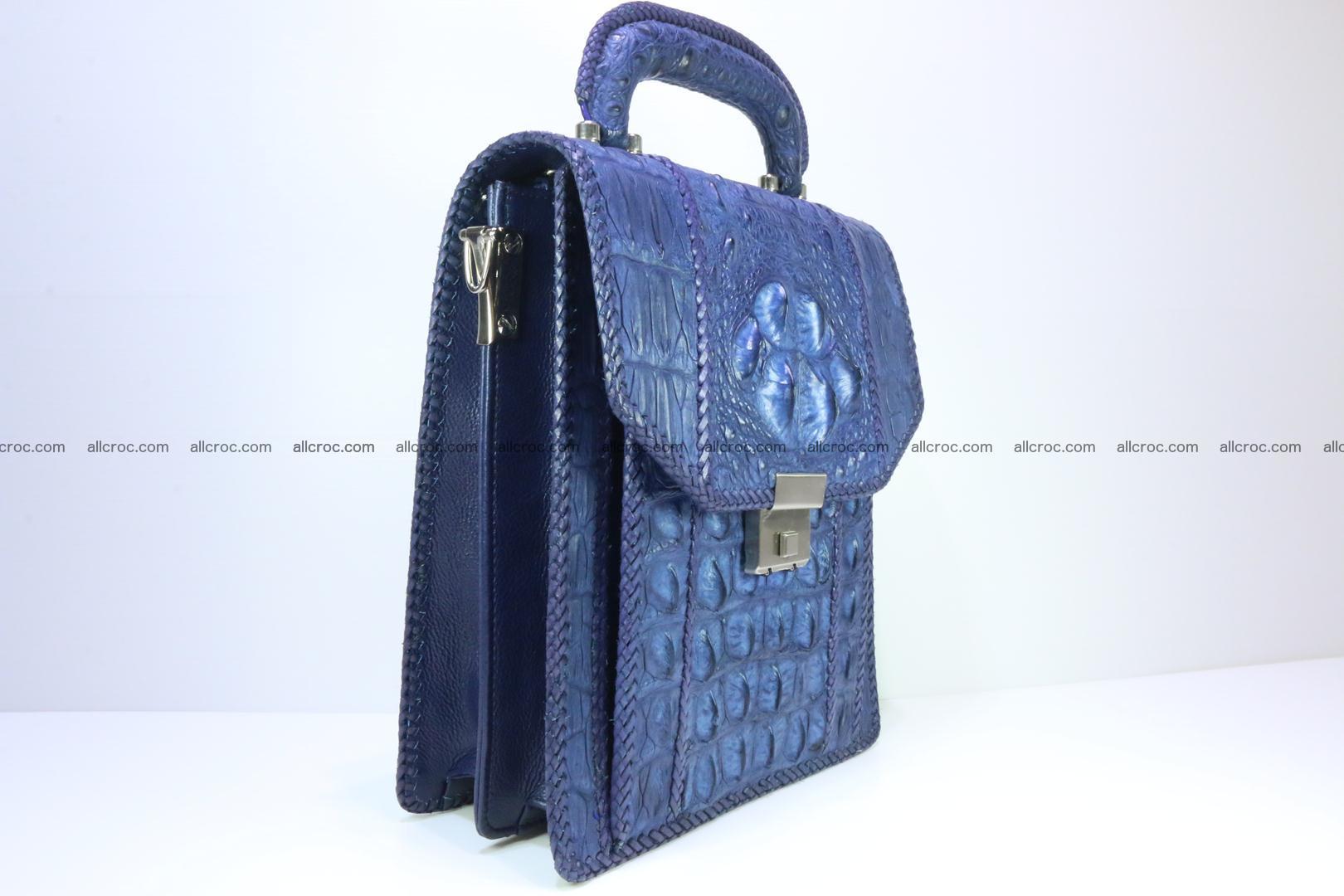 Crocodile skin messenger bag braided edges 419 Foto 1