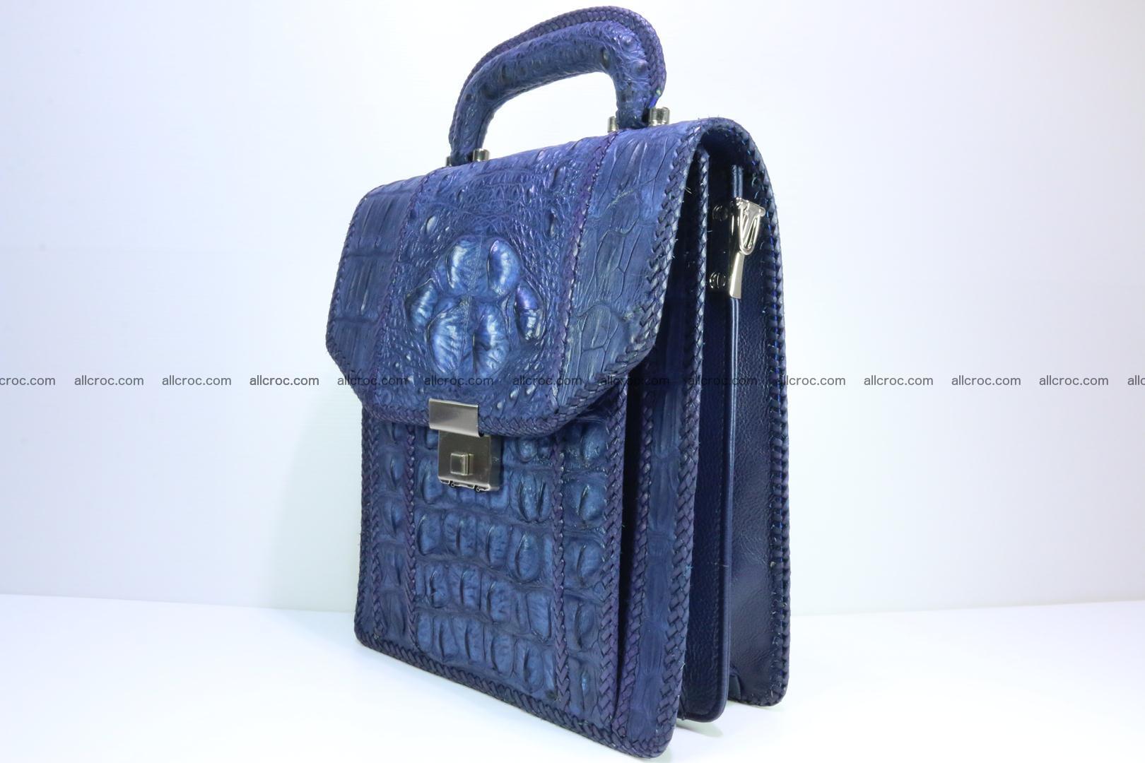 Crocodile skin messenger bag braided edges 419 Foto 2