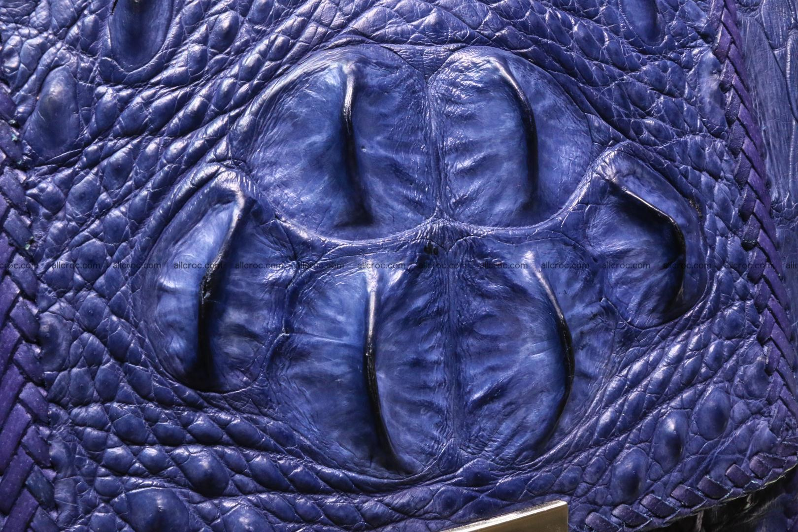 Crocodile skin messenger bag braided edges 419 Foto 4