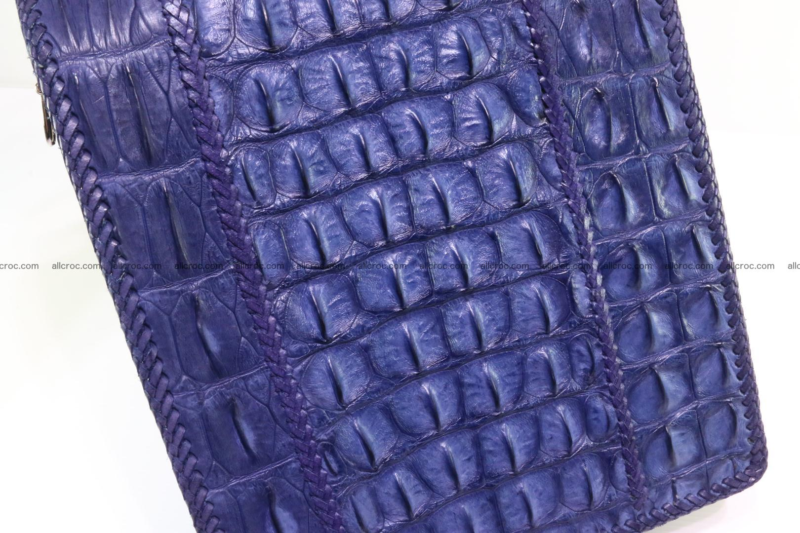 Crocodile skin messenger bag braided edges 419 Foto 5