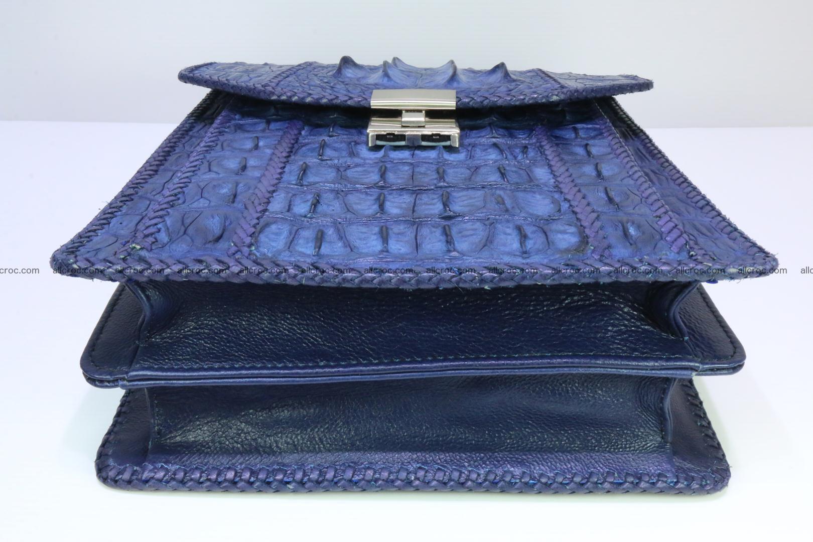 Crocodile skin messenger bag braided edges 419 Foto 6