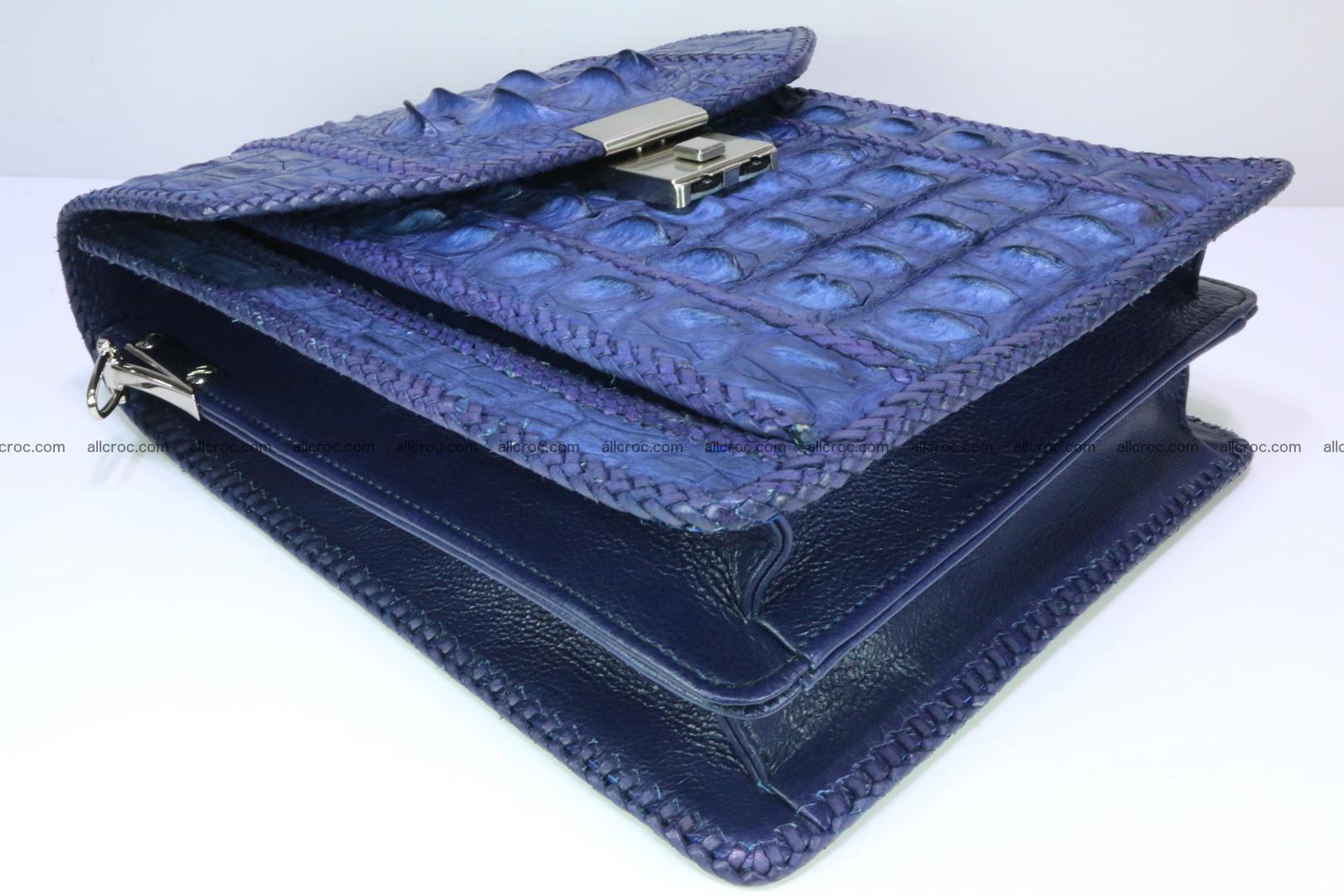 Crocodile skin messenger bag braided edges 419 Foto 7