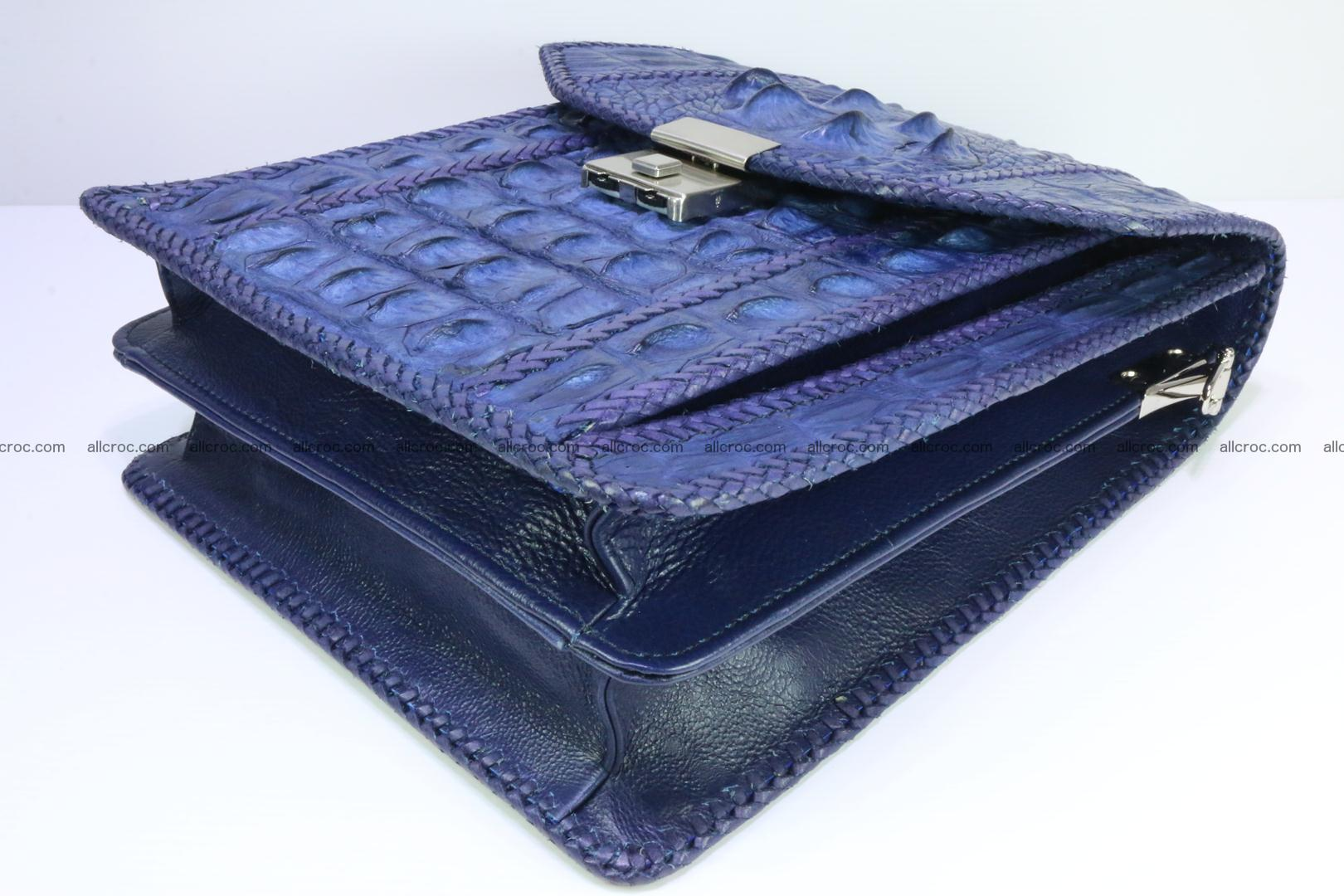 Crocodile skin messenger bag braided edges 419 Foto 8