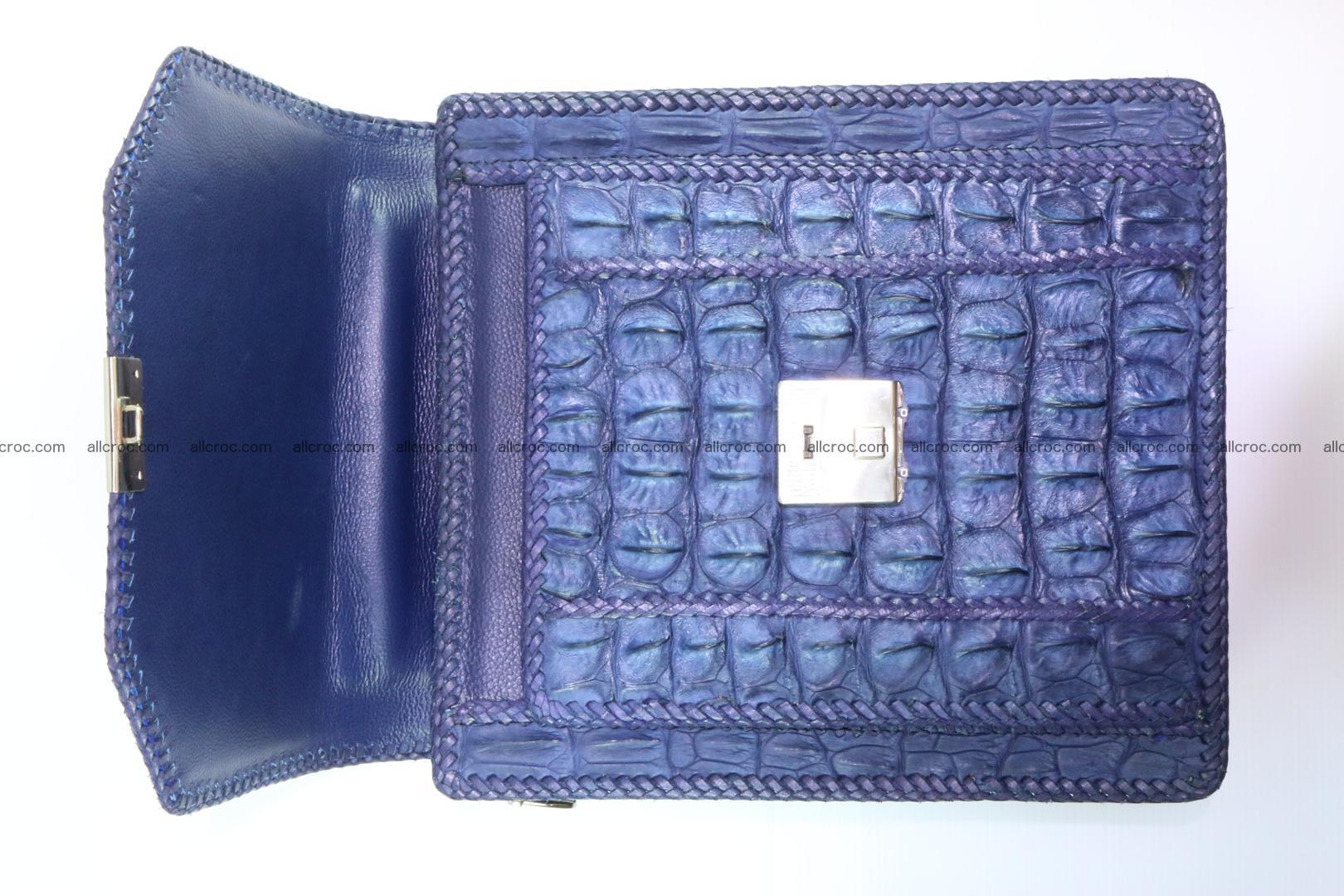 Crocodile skin messenger bag braided edges 419 Foto 9