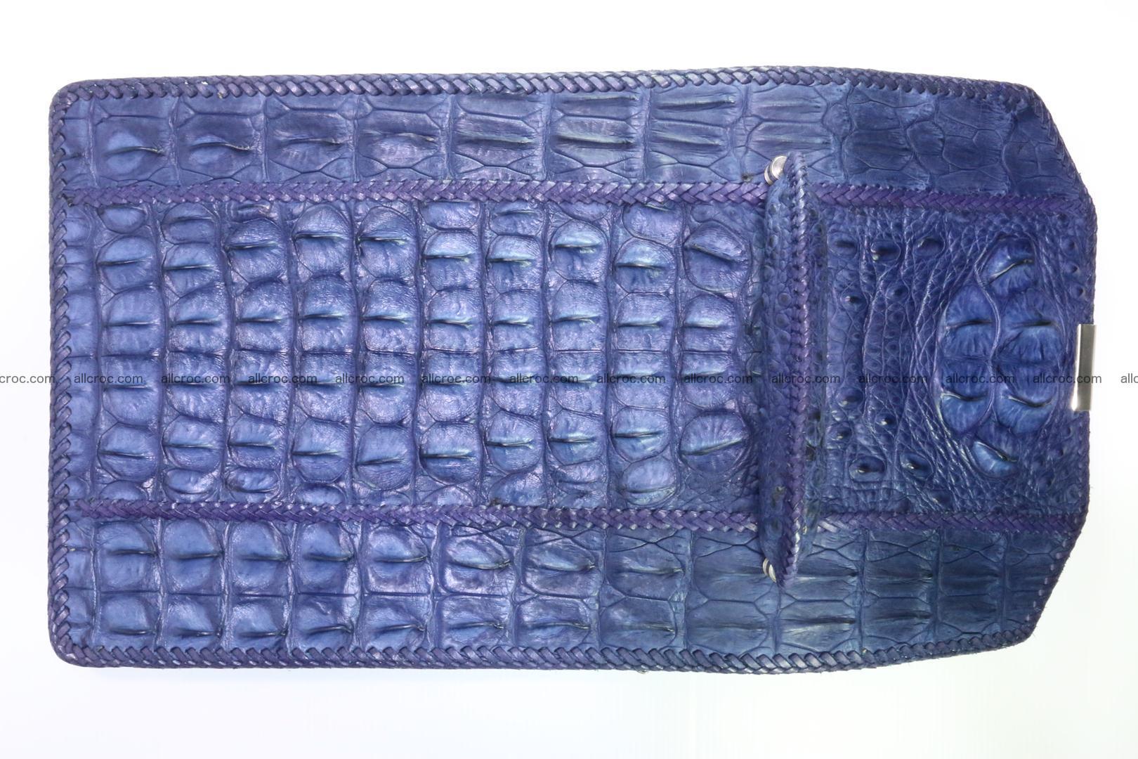 Crocodile skin messenger bag braided edges 419 Foto 10