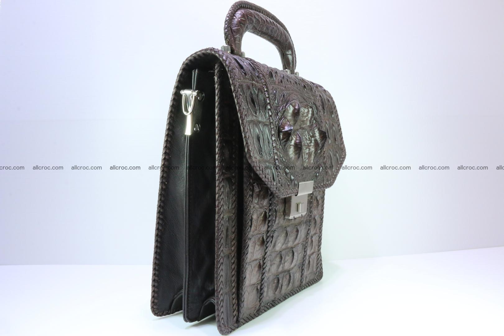 Crocodile skin messenger bag braided edges 138 Foto 1
