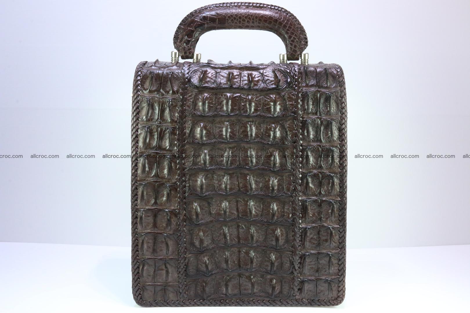 Crocodile skin messenger bag braided edges 138 Foto 3