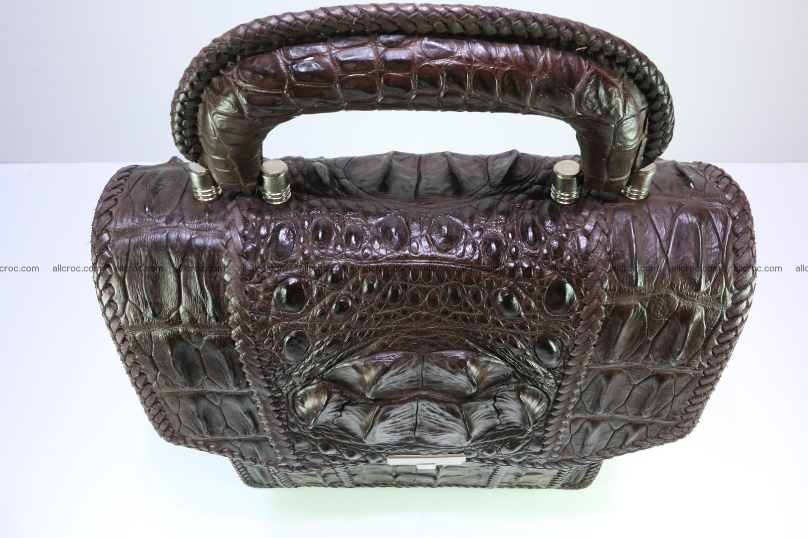 Crocodile skin messenger bag braided edges 138 Foto 5