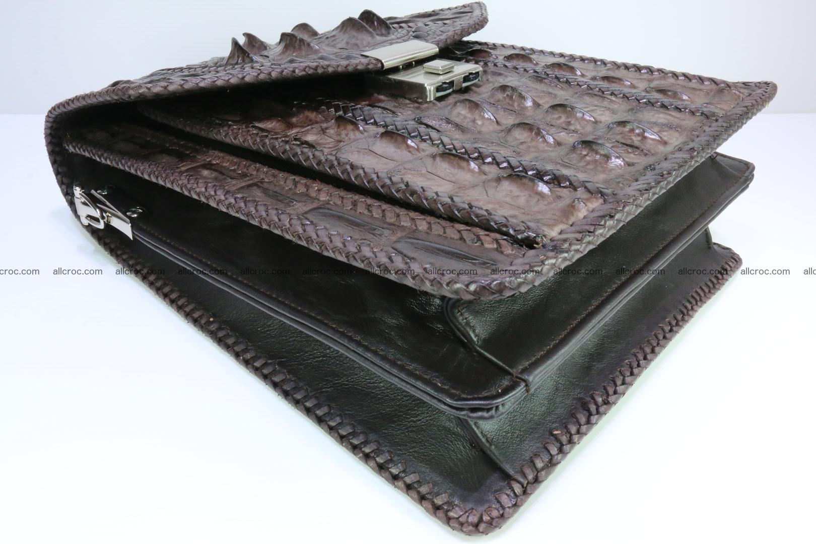 Crocodile skin messenger bag braided edges 138 Foto 6