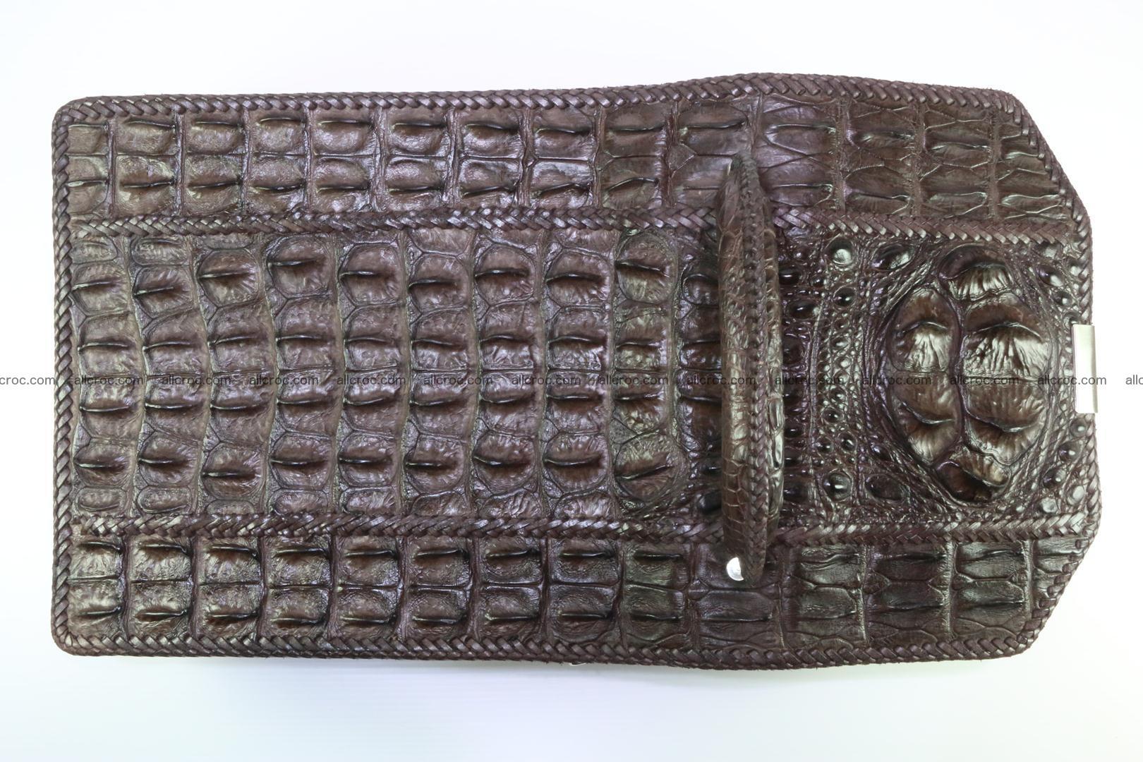 Crocodile skin messenger bag braided edges 138 Foto 8