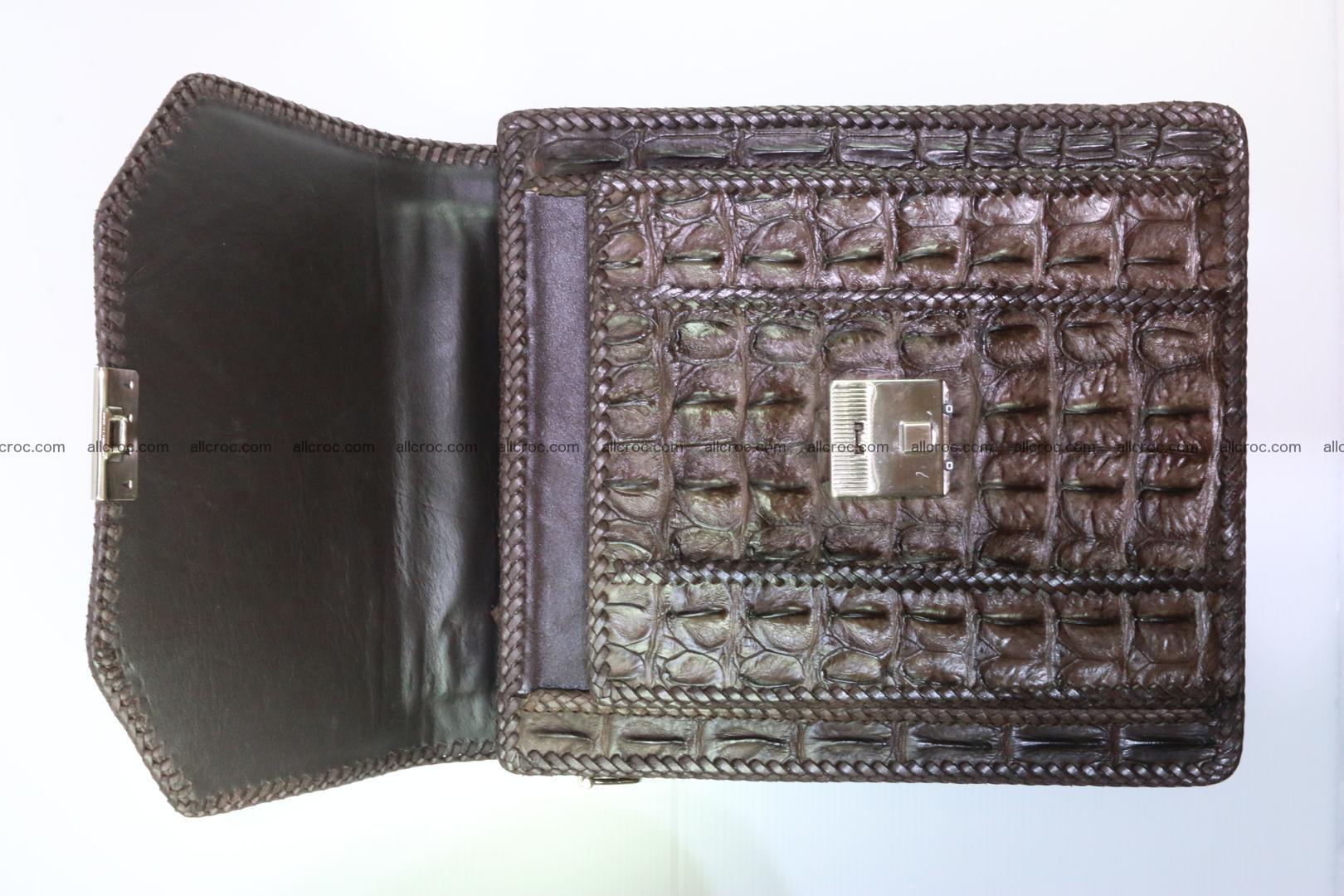 Crocodile skin messenger bag braided edges 138 Foto 9
