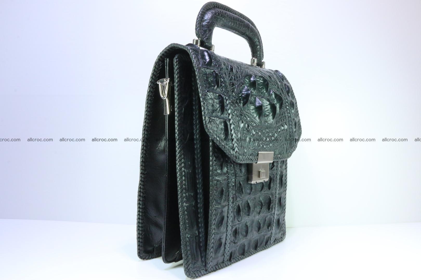 Crocodile skin messenger bag braided edges 139 Foto 1