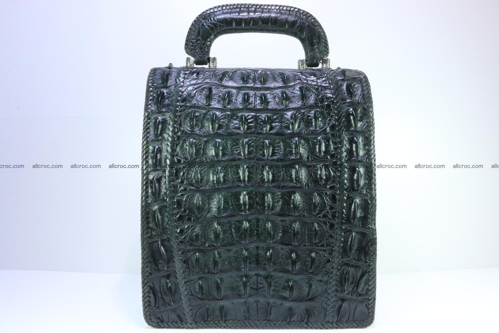 Crocodile skin messenger bag braided edges 139 Foto 3