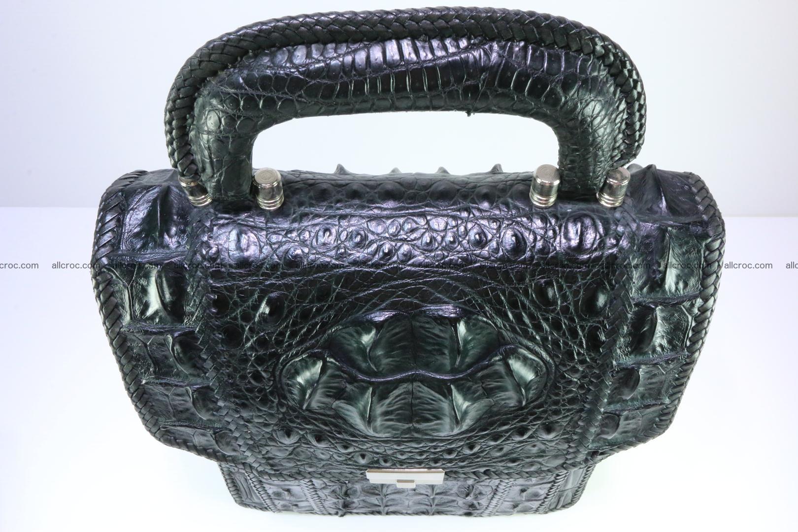 Crocodile skin messenger bag braided edges 139 Foto 5