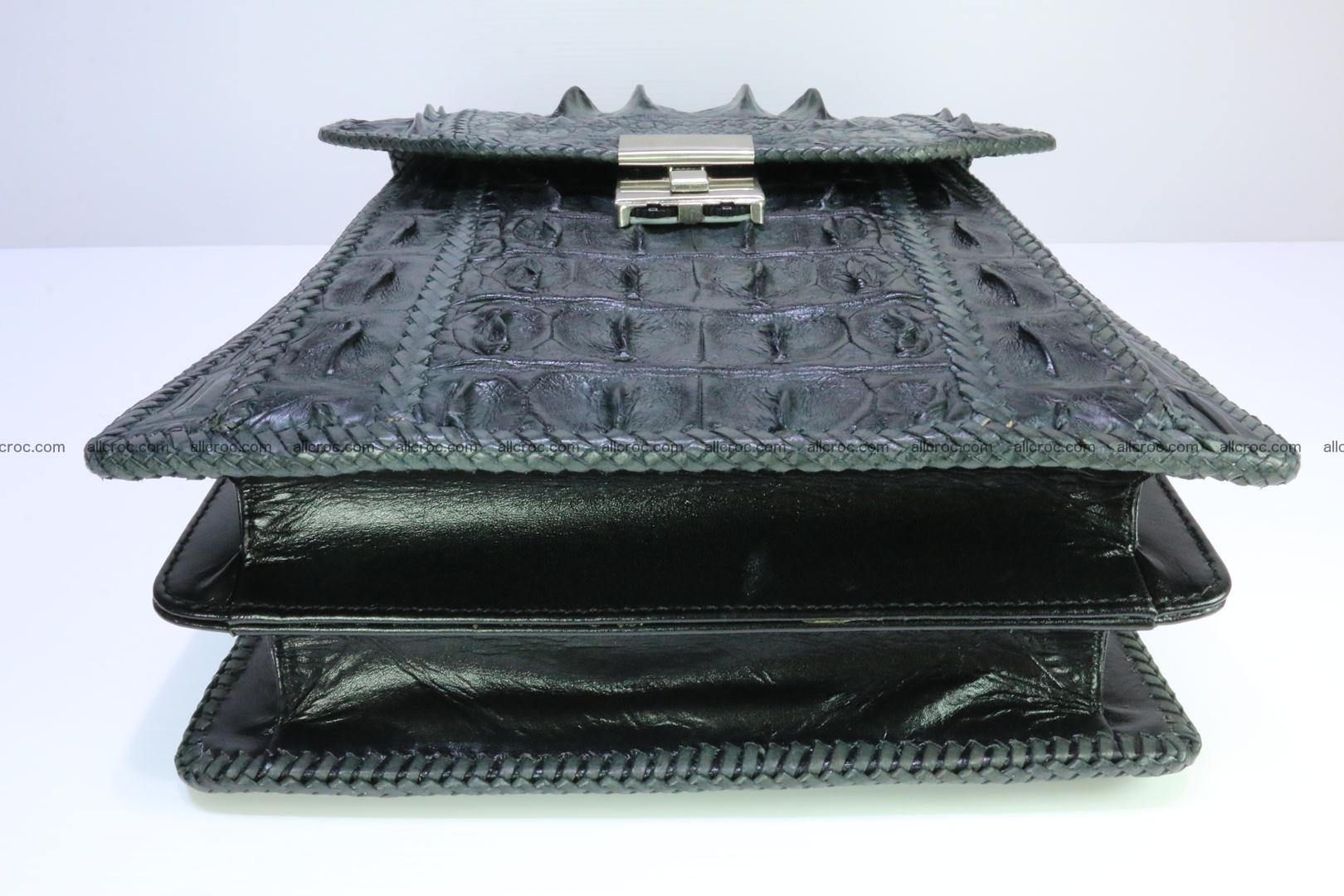 Crocodile skin messenger bag braided edges 139 Foto 4