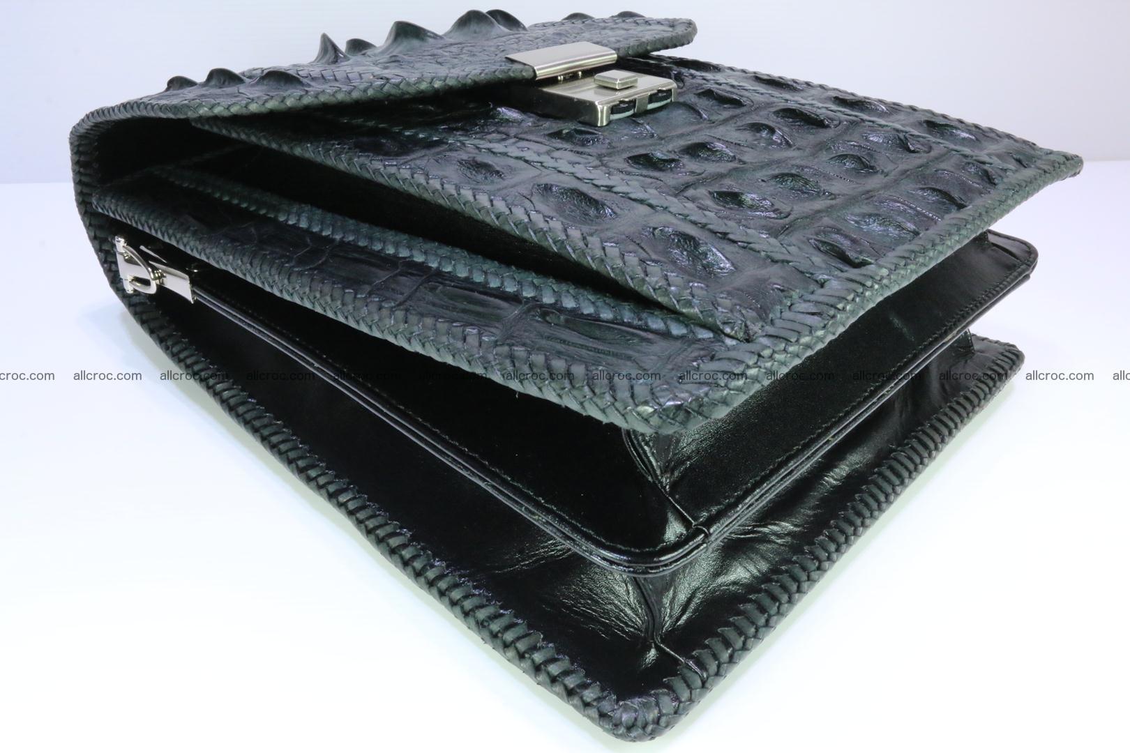 Crocodile skin messenger bag braided edges 139 Foto 6