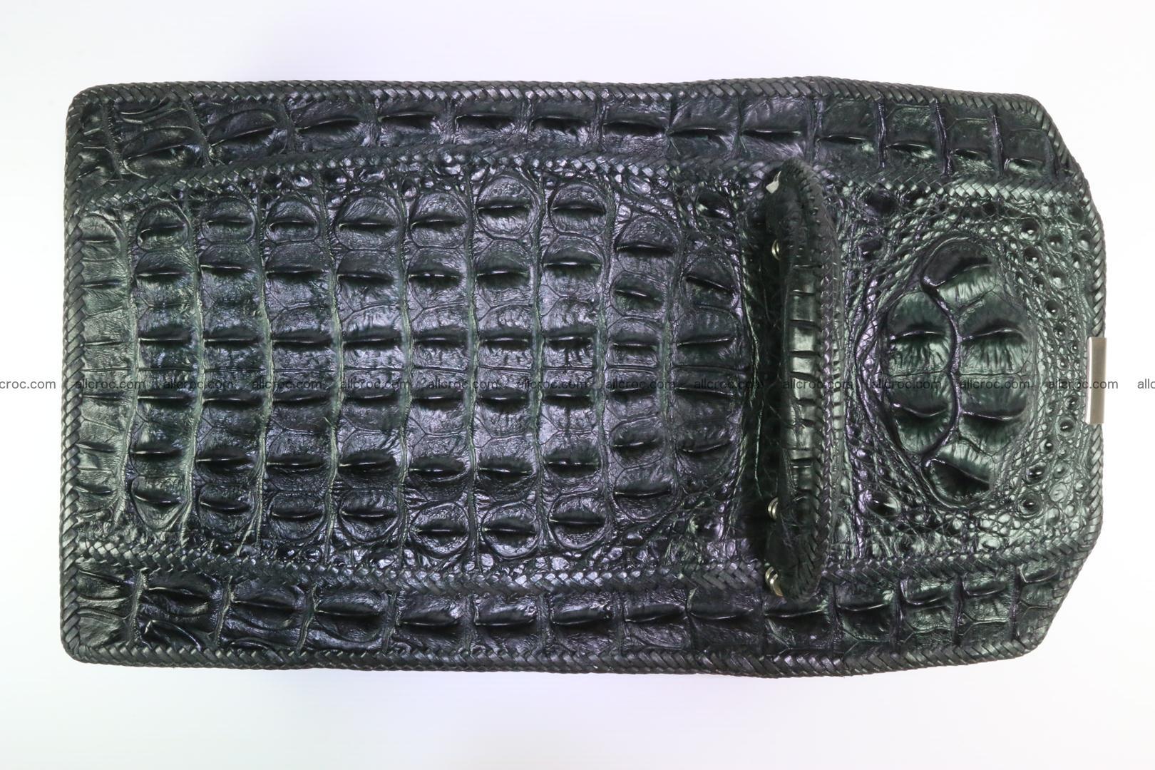 Crocodile skin messenger bag braided edges 139 Foto 8
