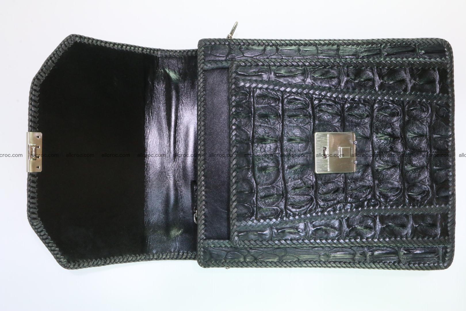 Crocodile skin messenger bag braided edges 139 Foto 9