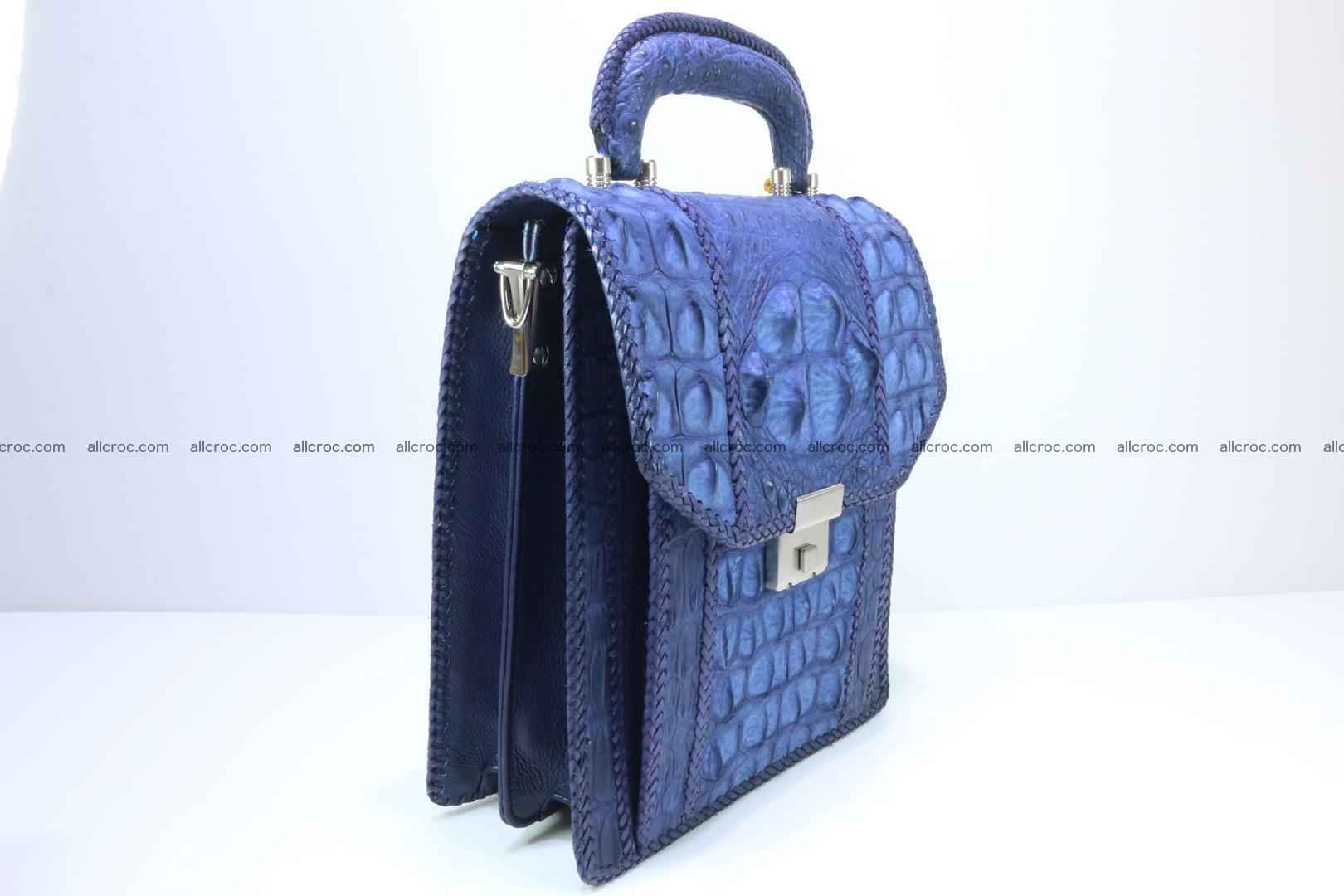 Crocodile skin messenger bag braided edges 422 Foto 2