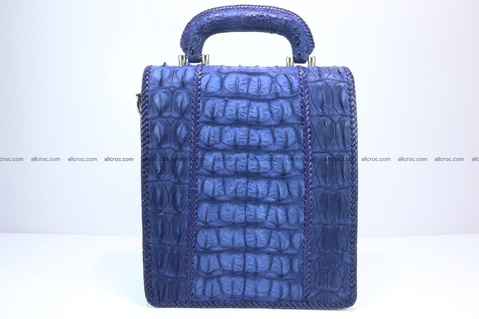 Crocodile skin messenger bag braided edges 422 Foto 1