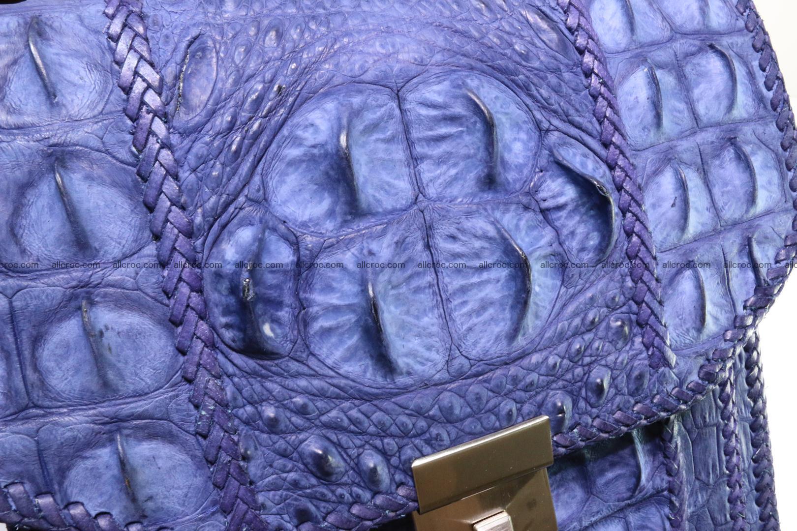 Crocodile skin messenger bag braided edges 422 Foto 7