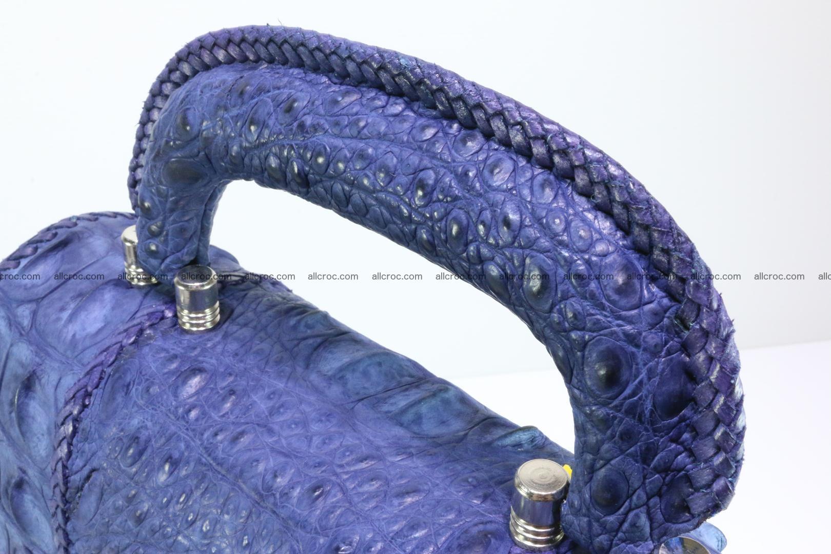 Crocodile skin messenger bag braided edges 422 Foto 5