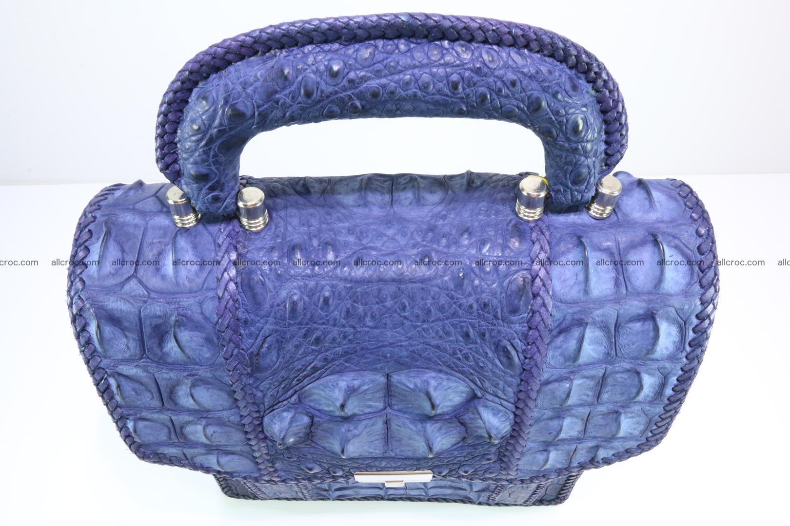 Crocodile skin messenger bag braided edges 422 Foto 8