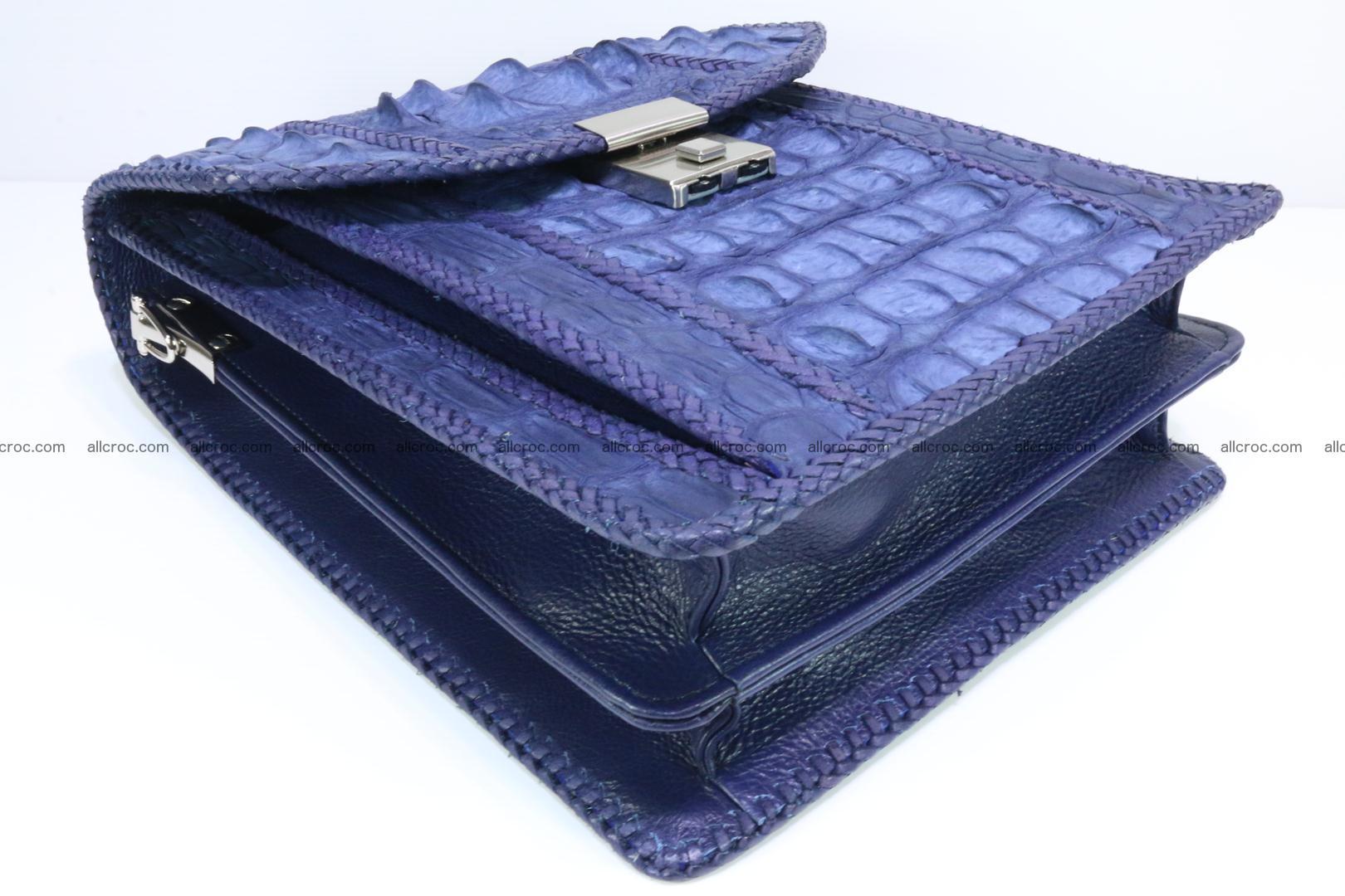 Crocodile skin messenger bag braided edges 422 Foto 10