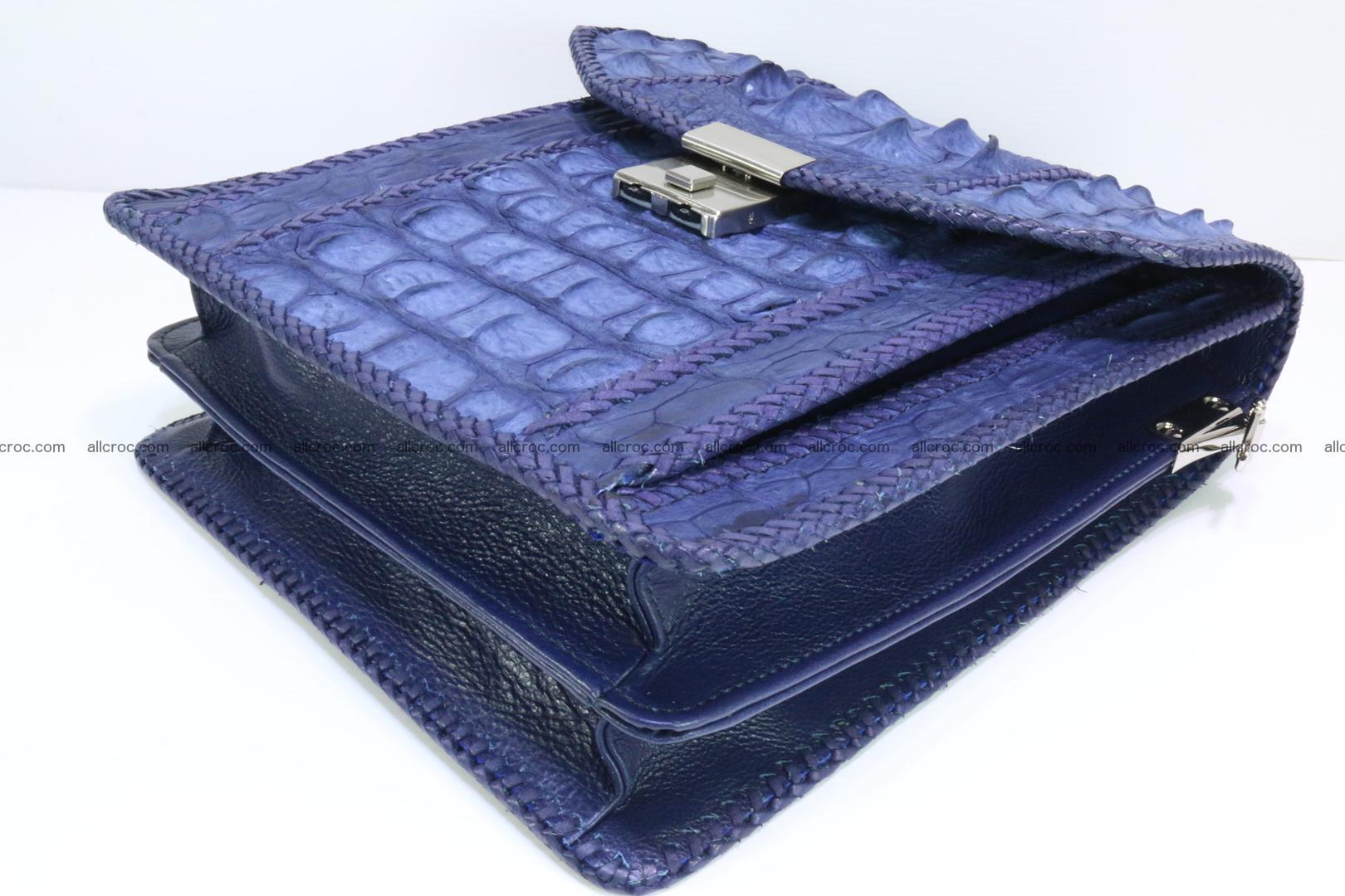 Crocodile skin messenger bag braided edges 422 Foto 11